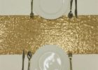 awesome gold runners for tables glitter