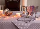 awsome grey polka dot table covers