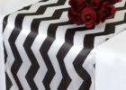 best black linen chevron table cover