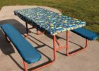 best blue picnic table covers and pads