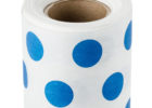 best blue polka dot table covers roll