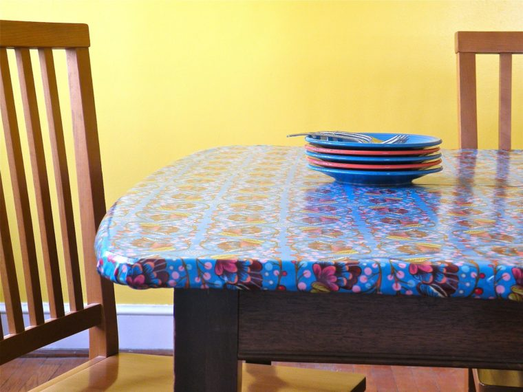 best fitted blue square vinyl elastic table covers