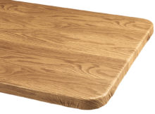 best fitted vinyl table covers wood grain pattern