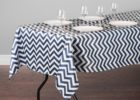 best navy blue chevron table cover