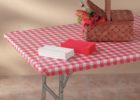 best red padded elastic picnic table covers