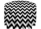 best round black chevron table cover