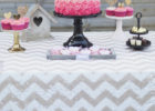 best silver chevron table cover ideas