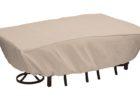 best white patio table covers rectangular