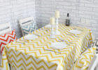 best yellow rectangular chevron table cover