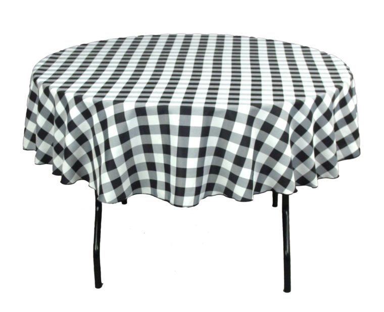 black and white checkered tablecloth disposable