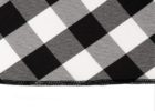 black and white checkered tablecloth fabric
