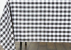 black and white checkered tablecloth linen