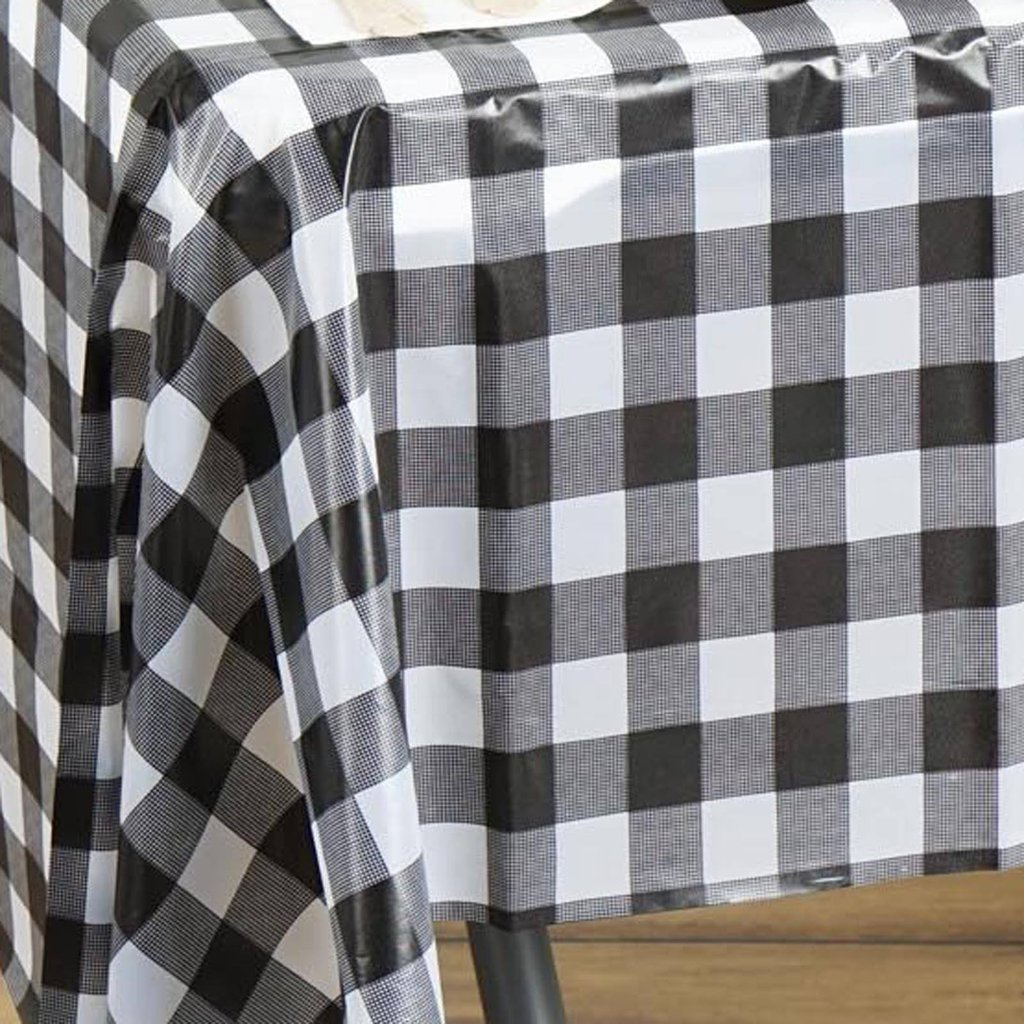 Black And White Checkered Tablecloth Table Covers Depot