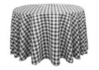 black and white checkered tablecloth plastic