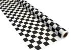 black and white checkered tablecloth roll