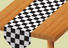 black and white checkered tablecloth vinyl