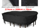 black chair and patio table covers rectangular