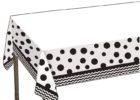 black chevron table cover and polka dot decorative