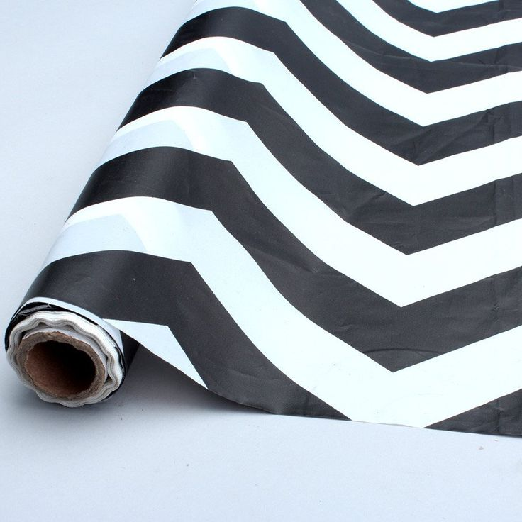 black chevron table cover roll