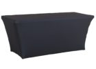 black custom fitted table covers uk