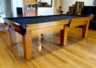 black custom pool table covers