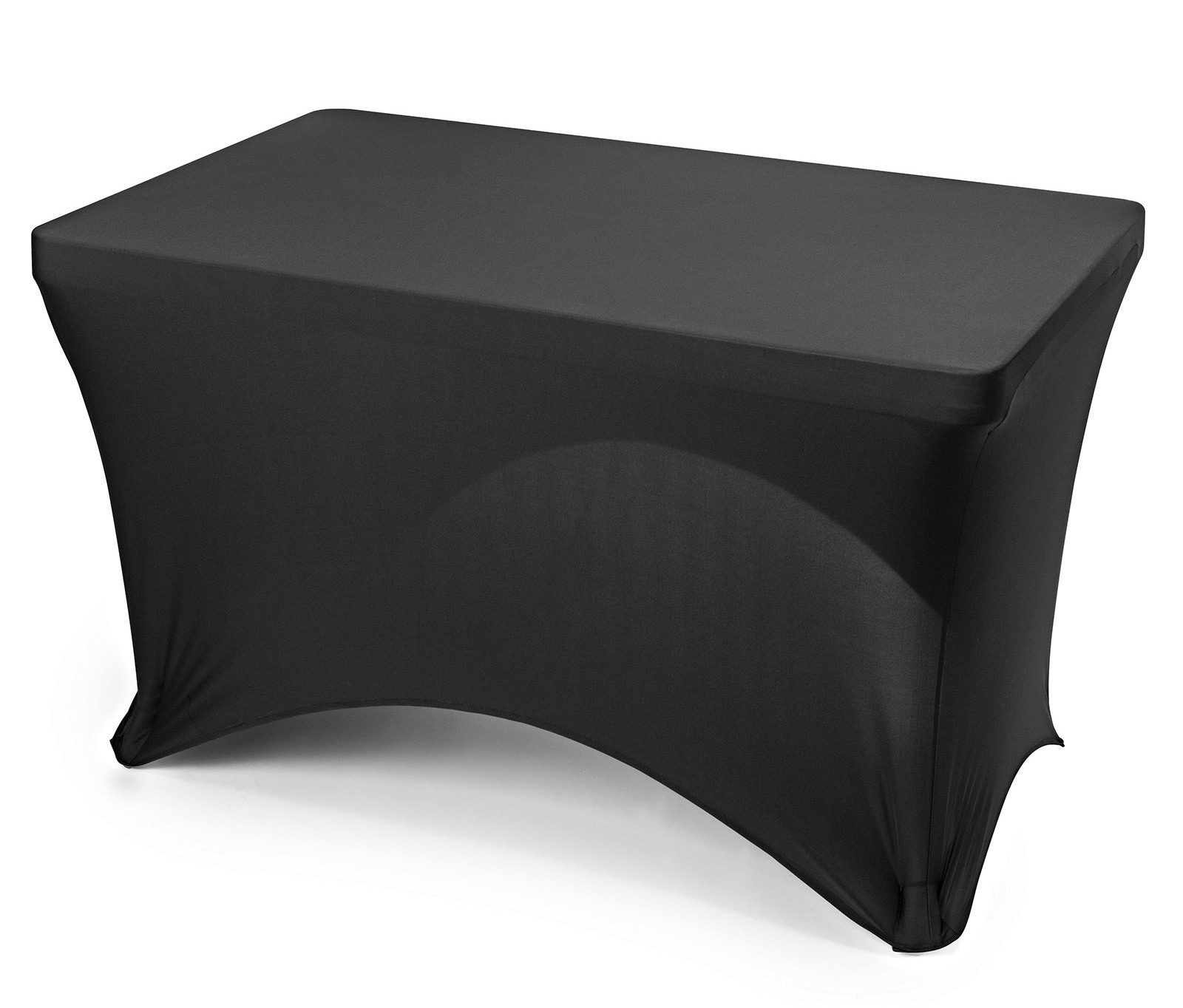black elastic fitted rectangle tablecloths