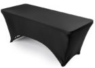 black fitted elastic picnic table covers