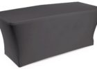 black fitted plain tradeshow table covers stretch