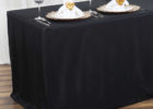 black fitted rectangle tablecloths