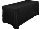 black fitted rectangle tablecloths fabric