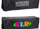 black fitted tradeshow table covers