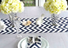 black linen chevron table cover ideas