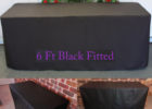 black rectangular elastic picnic table covers