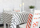 black red chevron table cover