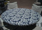 black round custom fitted table covers