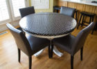black round custom fitted table covers cheap