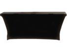 black spandex dj table cover