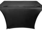 black spandex dj table cover skirts