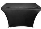black stretch dj table cover
