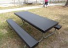 black vinyl fitted picnic table covers
