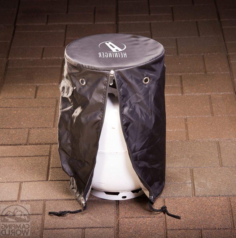 black vinyl propane tank cover table