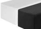 black white fitted rectangle tablecloths