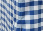blue fitted picnic table covers set