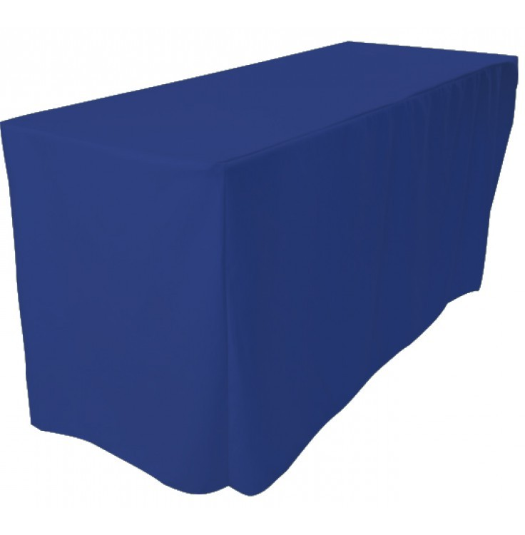 blue fitted rectangle tablecloths