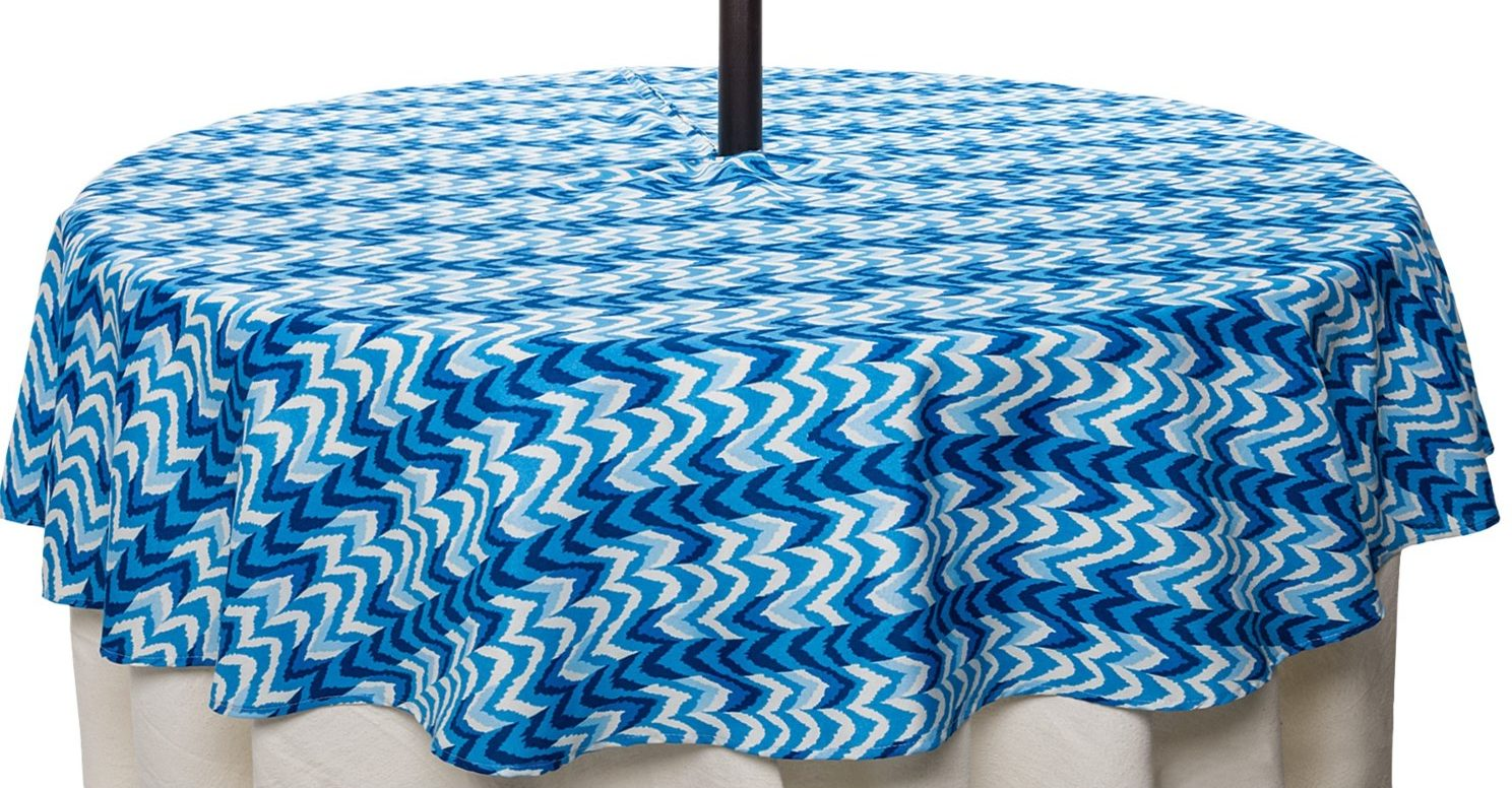 blue patio zippered tablecloths