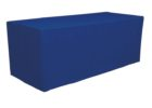 blue plain tradeshow table covers stretch