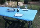 blue plastic elastic picnic table covers