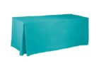 blue rectangular custom fitted table covers