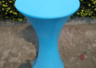 blue round plastic table covers with elastic