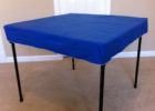blue square bridge table covers